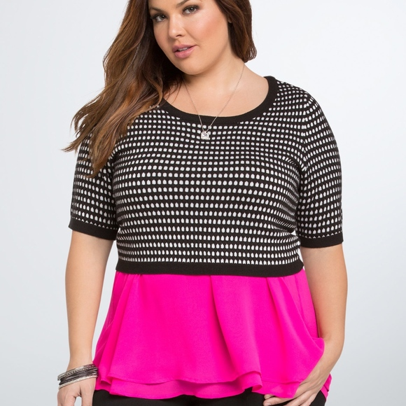 03445e1887214c Torrid Cropped Jacquard Sweater Plus Size 4x